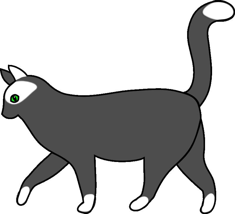 800x728 Clip Art Cat Walk Silhouette Free Download On Lemonize