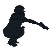 200x200 Buy 2 Get 1 Free Girls Softball Catcher Silhouette Machine
