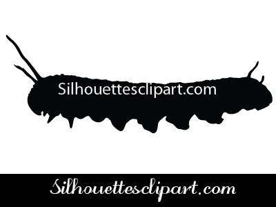 400x300 Caterpillar Silhouette Vector Graphics Silhouettes Vector