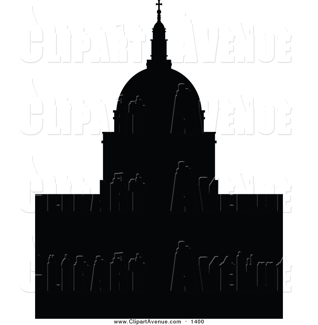 1024x1044 Clipart Of A Silhouetted St Pauls Cathedral By Cidepix