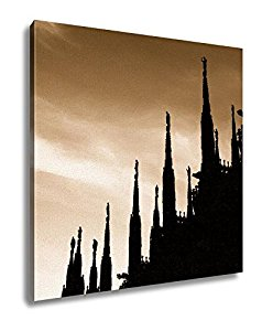 238x300 Ashley Canvas, Duomo Cathedral Of Milan Italy, Sepia