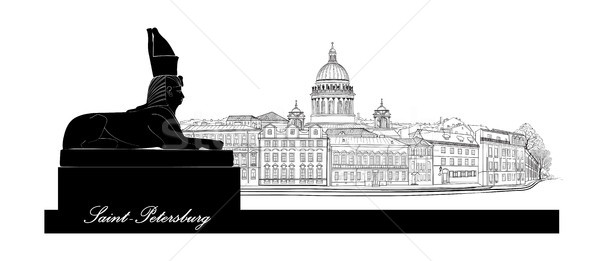 600x261 St. Petersburg City, Russia. Saint Isaac's Cathedral Skyline