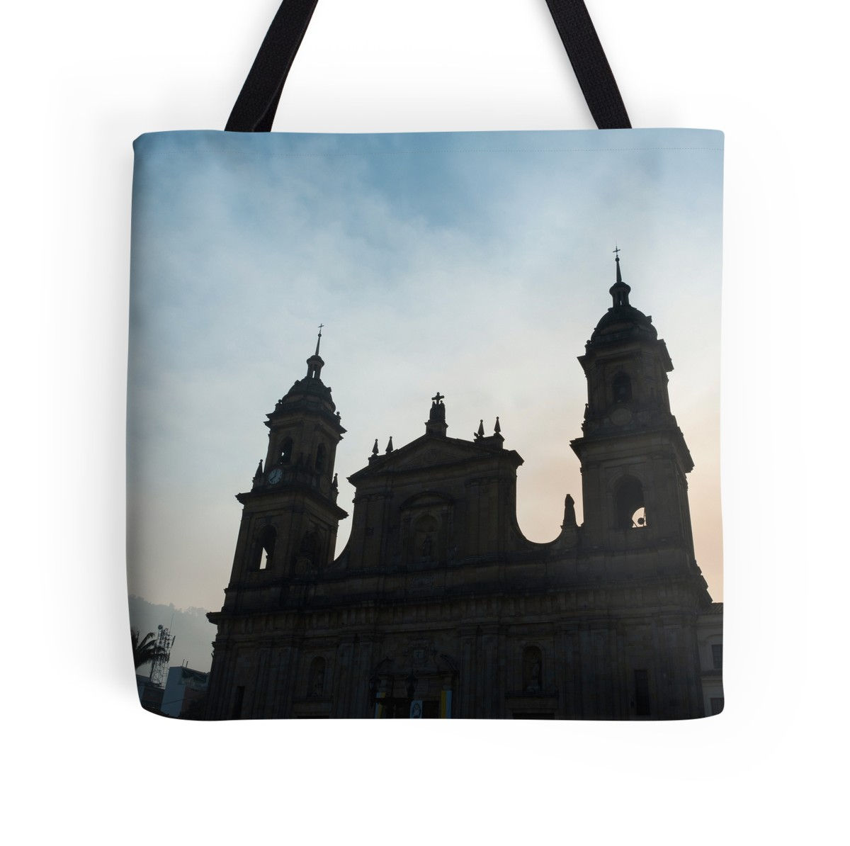 1200x1194 Bogota Colombia Silhouette Of The Neo Classical Cathedral On Plaza