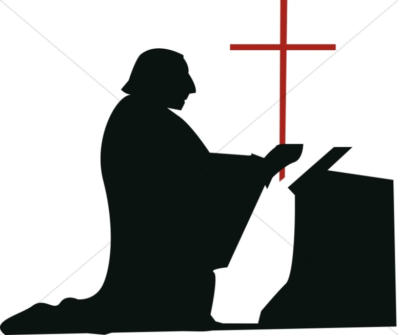 776x653 Kneeling Man In Devotion Clergy Clipart