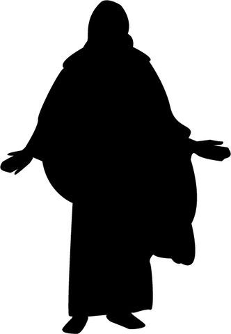 332x480 Mormon Share } Christ Silhouette Silhouettes, Cartoon Silhouette