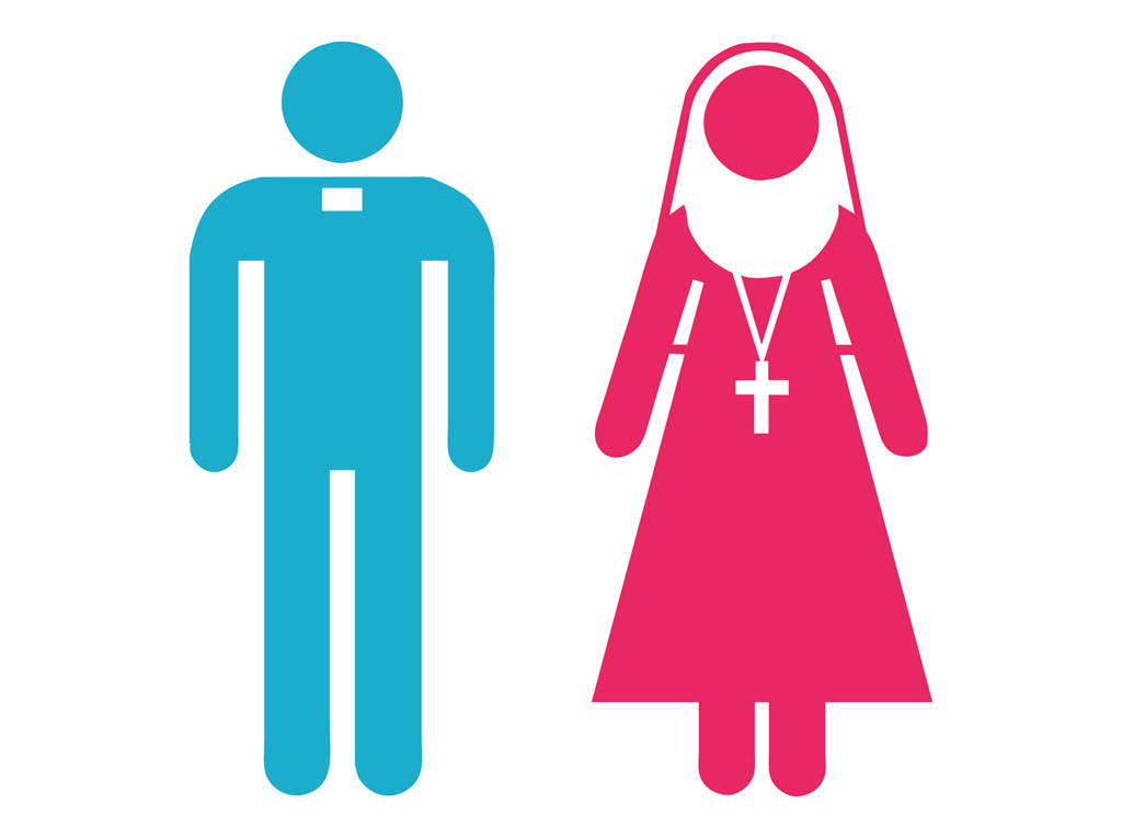 1024x765 Priest And Nun Icons Vector Art Amp Graphics