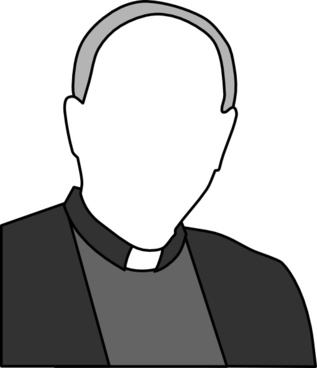 317x368 Catholic Priest Free Vector Download (38 Free Vector)