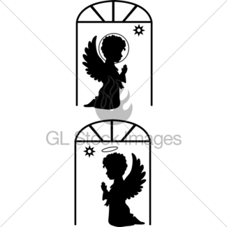 325x325 Silhouette Angel Gl Stock Images