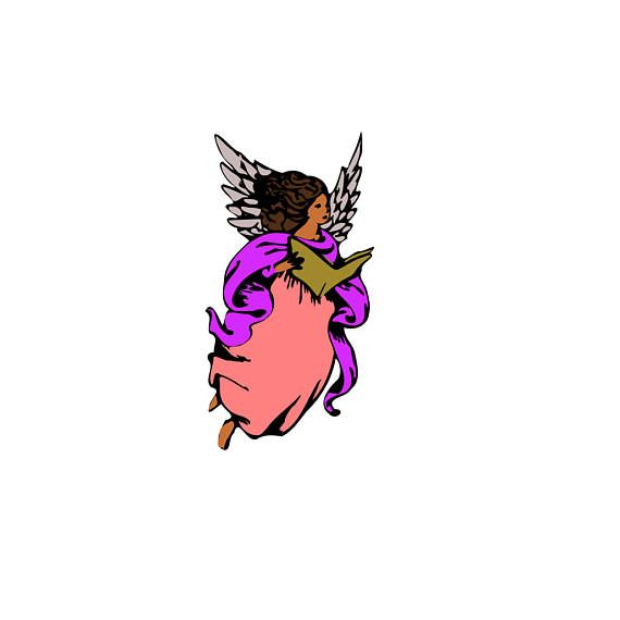 570x570 Singing Angel With Wings Svg Design Cutting File Also Includes