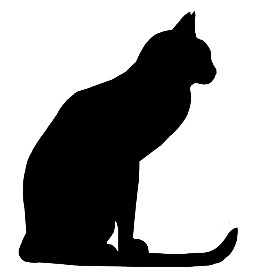 886x960 Clipart Cats Silhouette