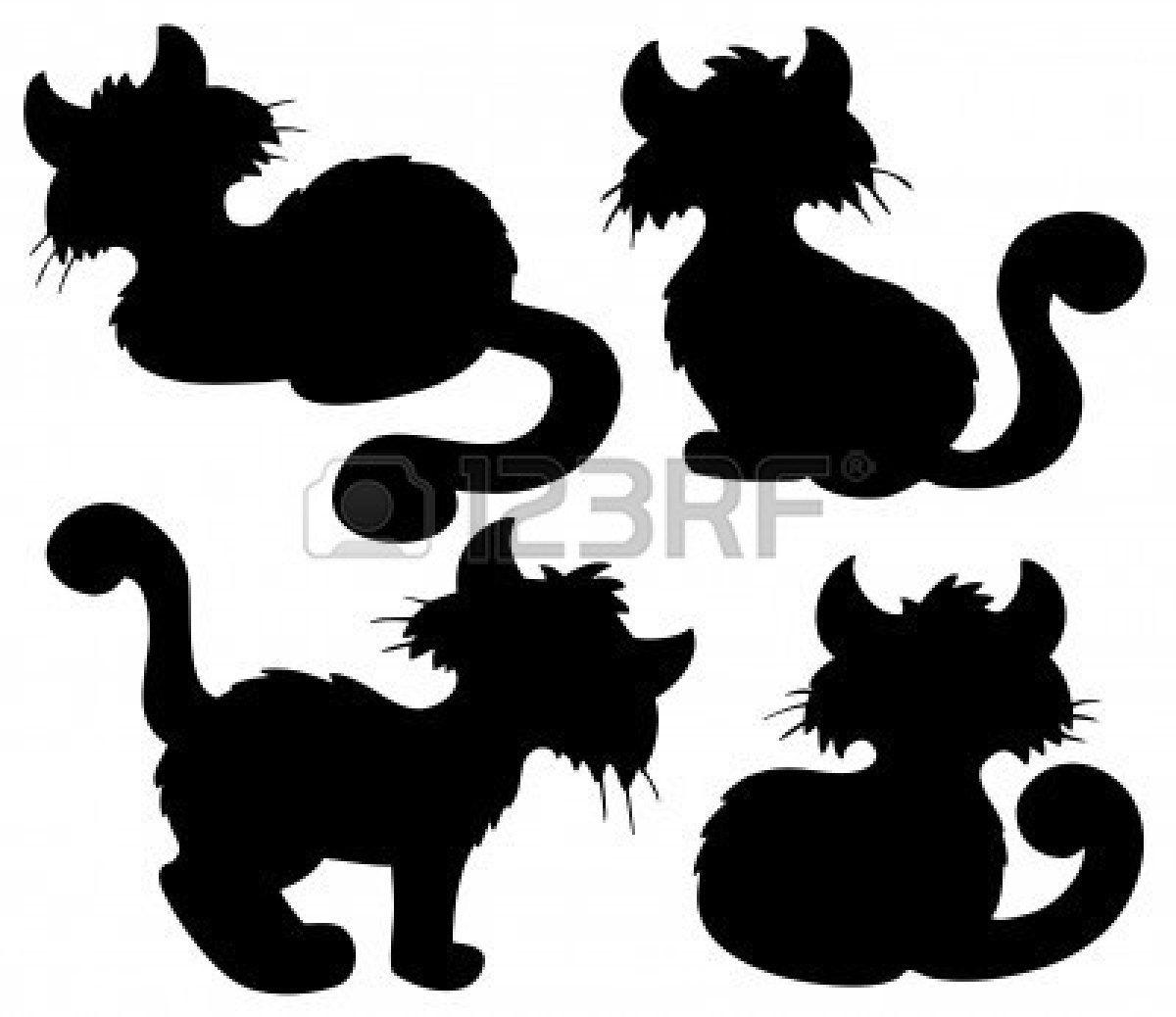 1200x1038 Cartoon Cat Silhouette Collection