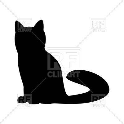 400x400 Cat Silhouette Icon Royalty Free Vector Clip Art Image