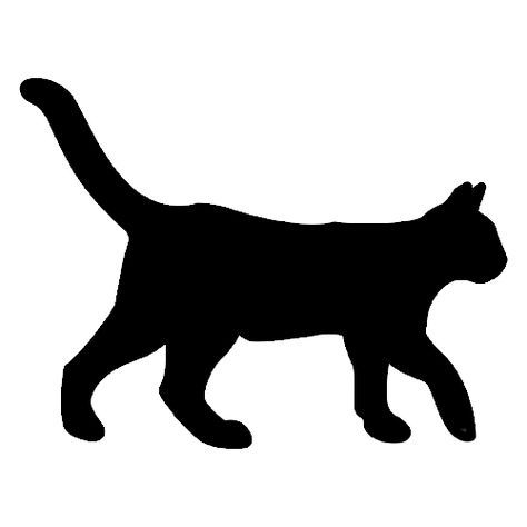 474x474 Drawn Cat Silhouette Many Interesting Cliparts