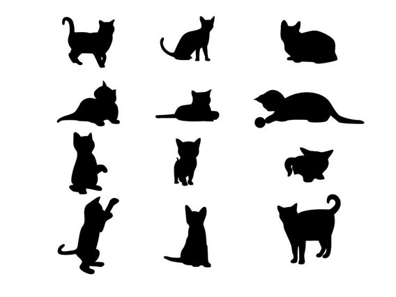568x426 Free Free Cat Vector, Hanslodge Clip Art Collection