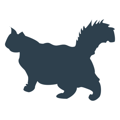 512x512 Persian Cat Silhouette