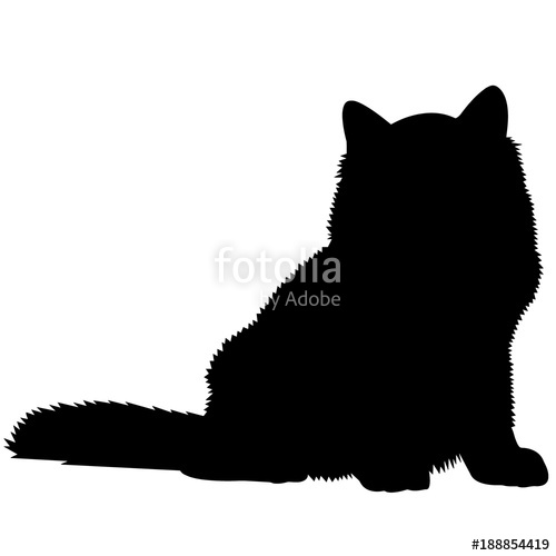 500x500 Siberian Cat Silhouette Vector Graphics Stock Image And Royalty