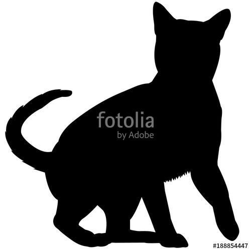 500x500 Tonkinese Cat Silhouette Vector Graphics Stock Image And Royalty