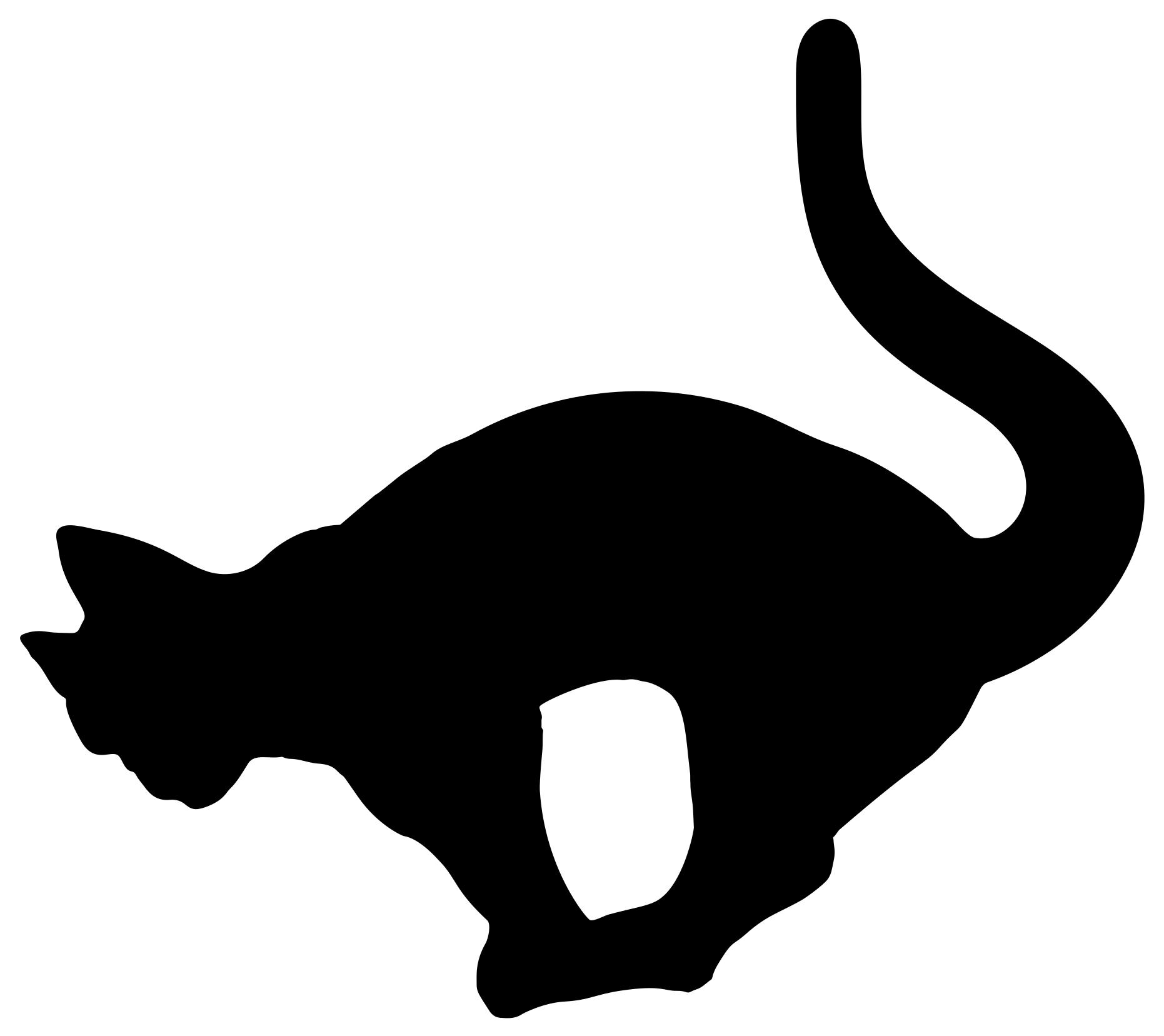 1862x1657 Balancing Cat Silhouette Clipart