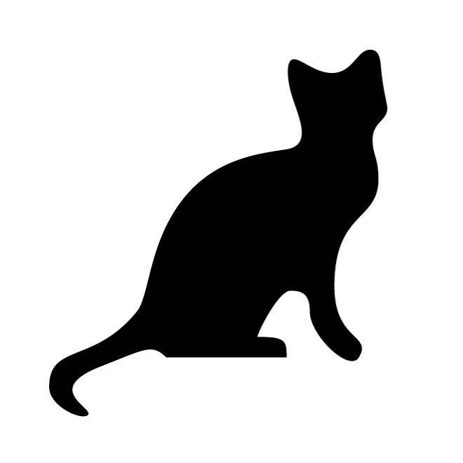 660x660 Cat Silhouette Clip Art