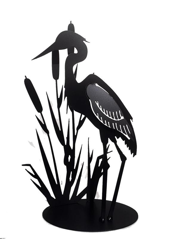 600x800 Heron In Cattails