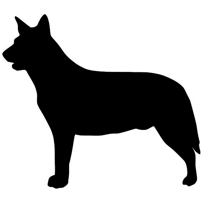Cattle Dog Silhouette