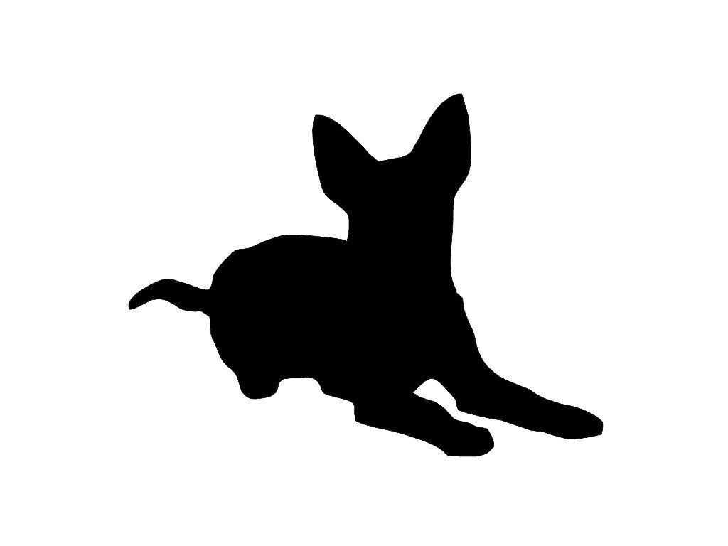 1024x768 Australian Cattle Dog Silhouette Custom Die Cut Vinyl Decal