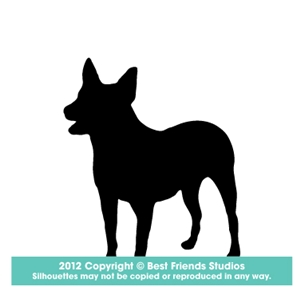300x300 Australian Cattle Dog Silhouette Gifts, Stationery, Address Labels