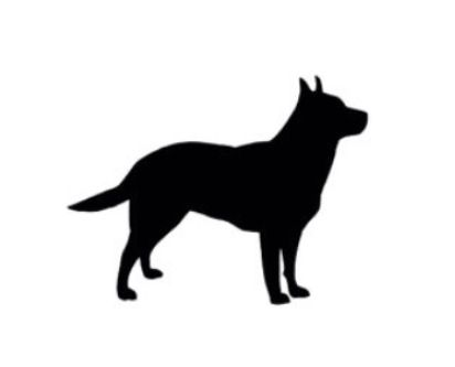 412x333 Cattle Dog Silhouette. Tattoo Dog Silhouette