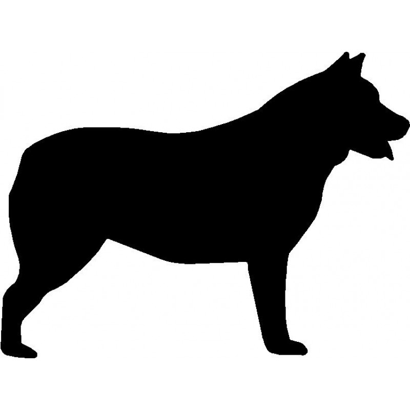 800x800 Dog Breed Silhouette Wall Hanging Magnetic Memo Cattle Dog