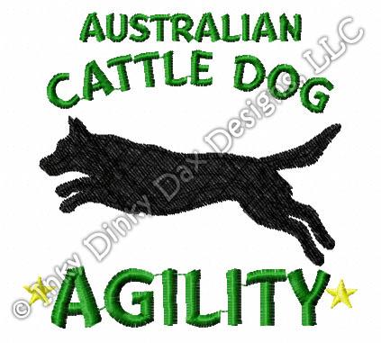 423x381 Australian Cattle Dog Agility Dog Embroidered T Shirt Sew Dog Crazy