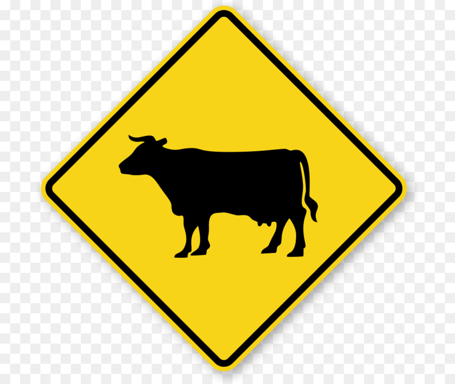 900x760 Cattle Pedestrian Crossing Warning Sign Traffic Sign