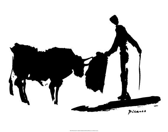 569x447 Pablo Picasso Bullfight Ii Matador Art Print Poster