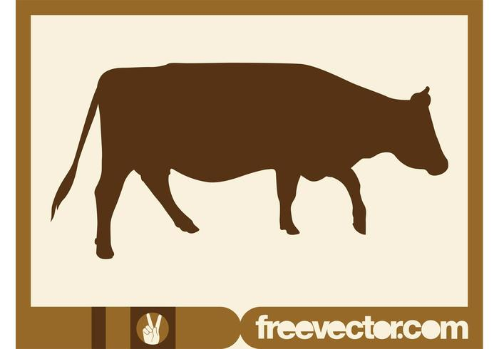 700x490 Walking Cow Silhouette