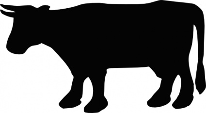 425x233 Cow Silhouette Clip Art Vector, Free Vector Images