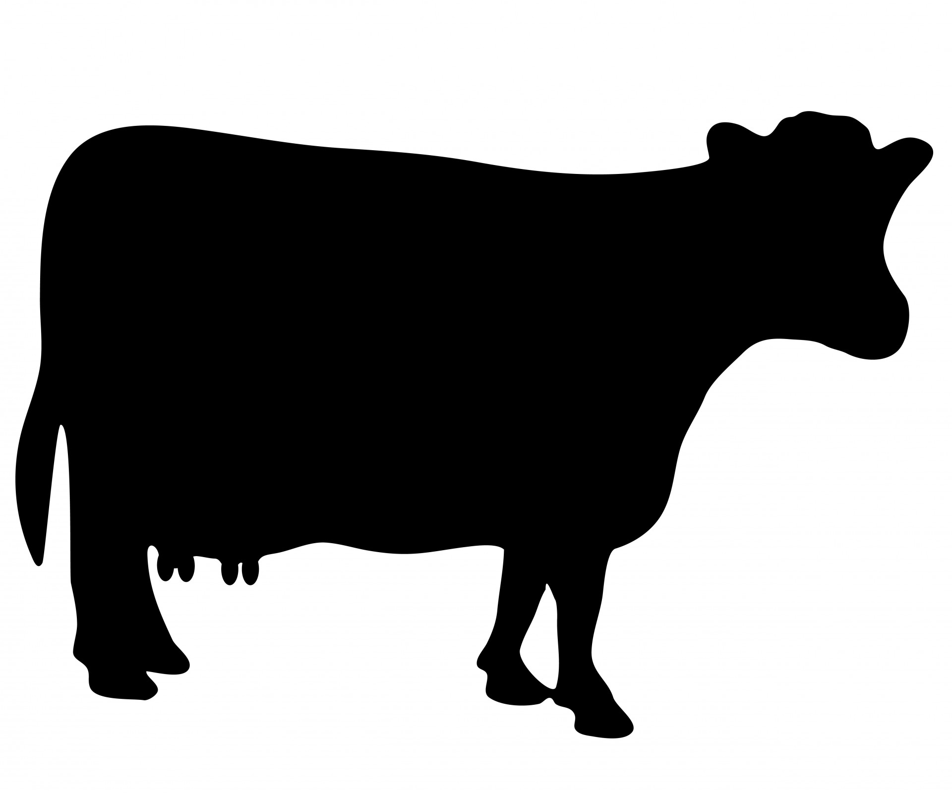 1920x1600 Cow Silhouette Clipart Free Stock Photo