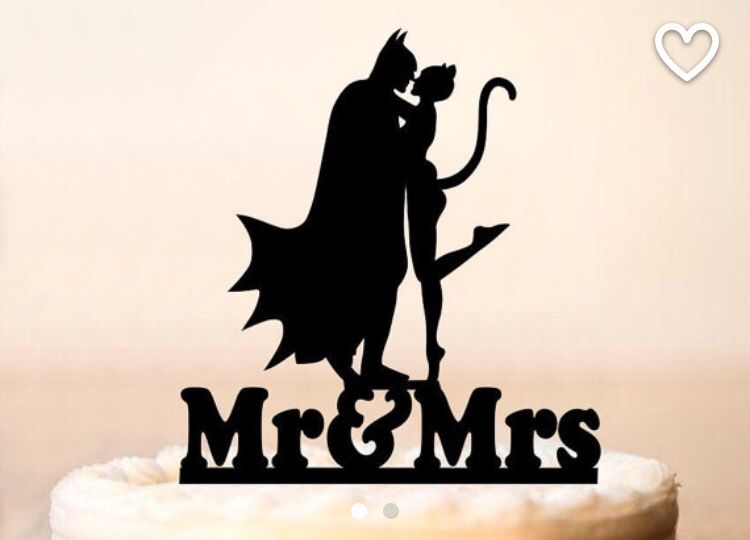 750x540 Batman And Catwoman Wedding Cakepper From P2topper On Etsy