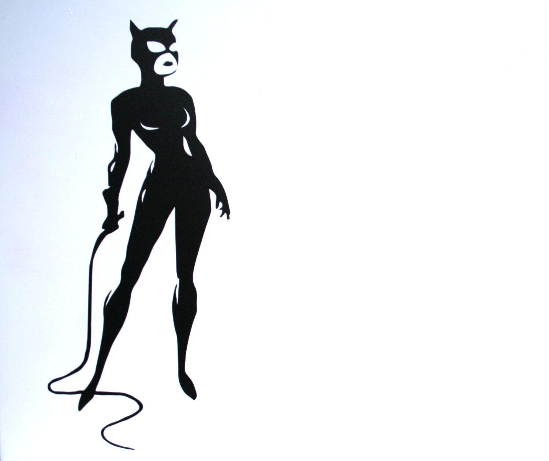 1500x1260 6 Catwoman Silhouette Selina Kyle Batman Vinyl Logo