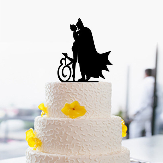 570x568 Batman And Catwoman Cake Topper Custom Cake Topper Wedding Cake