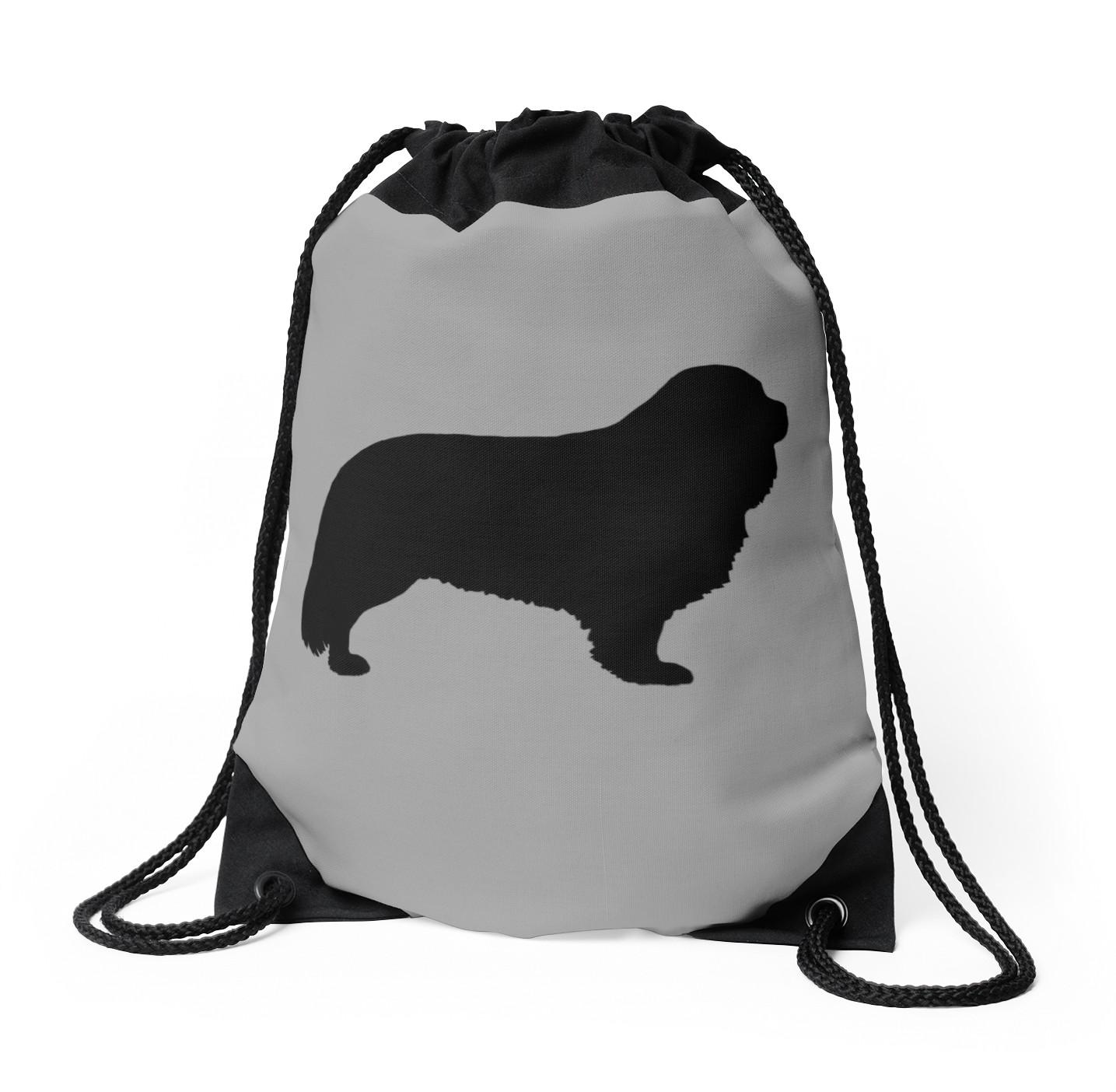 1435x1404 Cavalier King Charles Spaniel Silhouette(S) Drawstring Bags By