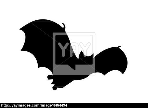 512x372 Bat Silhouette In Flight Clipart Image Cave