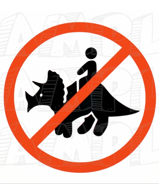 509x588 Pdf Do Not Ride The Triceratops Sign Themed Dinosaur