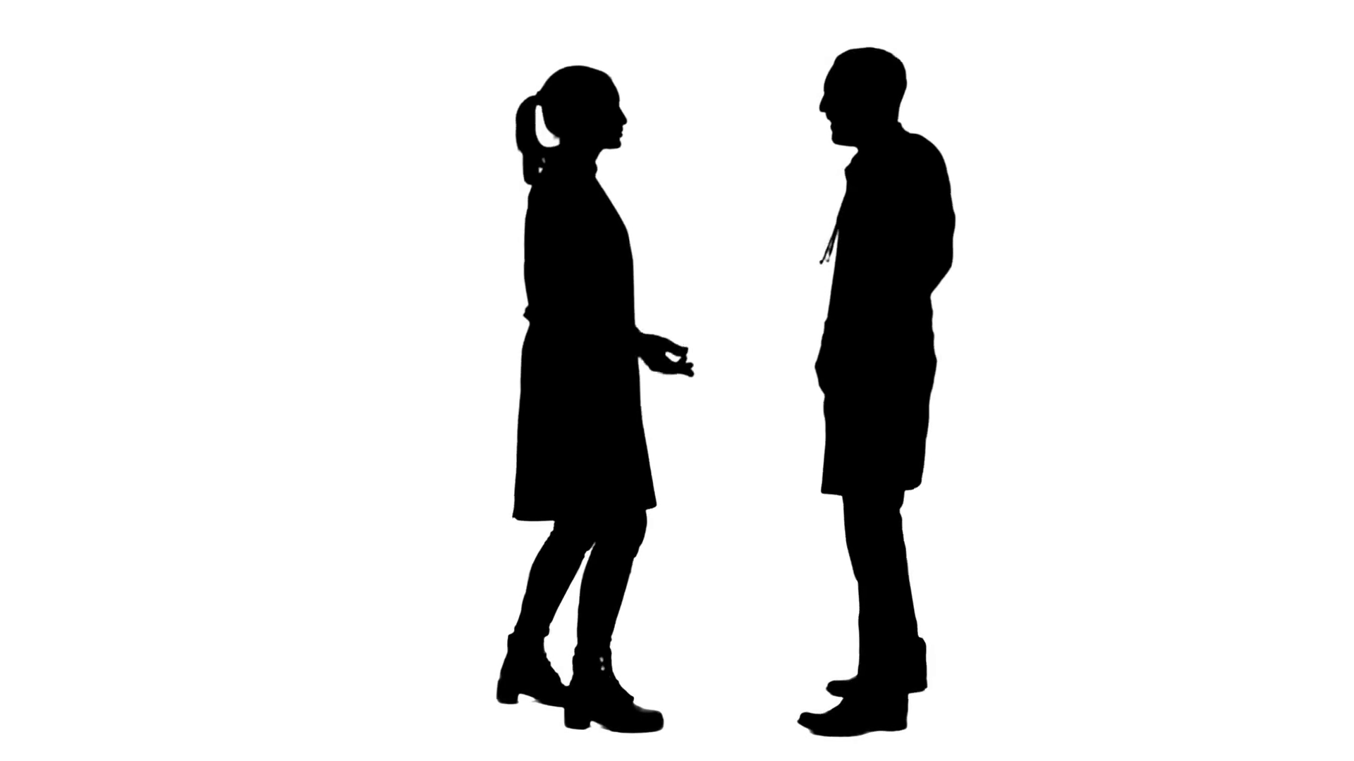 1920x1080 Silhouette Happy Young Medical Students Dancing, Celebrating They
