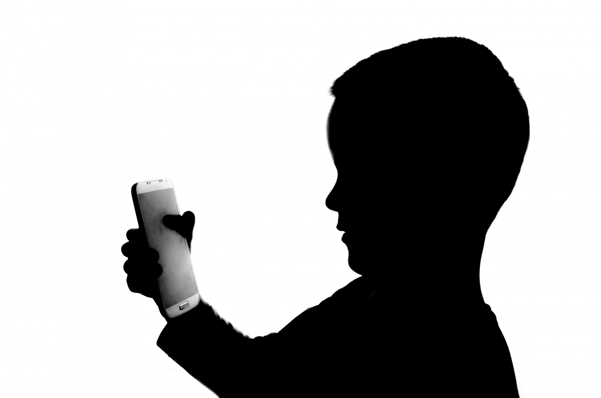 1920x1271 Silhouette Boy With Telephone Free Stock Photo