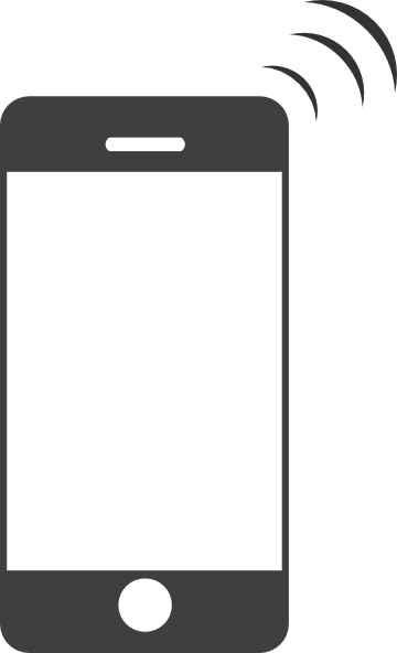 Cell Phone Silhouette Vector
