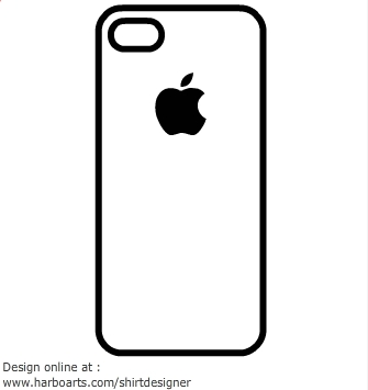 335x355 Iphone Clipart Silhouette