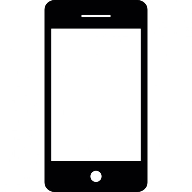 626x626 Smart Phone With White Screen Icons Free Download