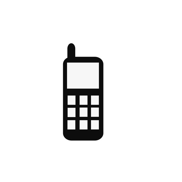 600x600 Vector Icon Cell Phone