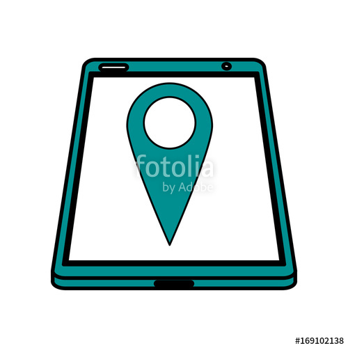 500x500 Electronic Cell Phone On Icon Vector Illustration Design Graphic