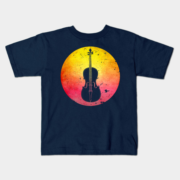 630x630 Vintage Retro Cello Instrument Silhouette Gift For Musician