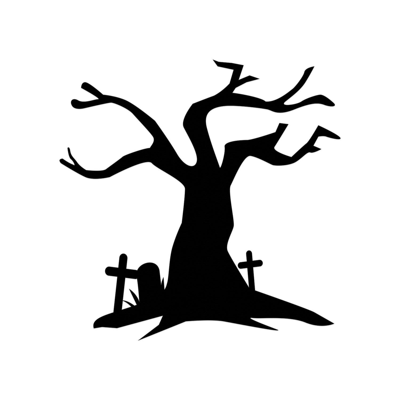 1500x1500 Halloween Die Cut Tree Die Cut Spooky Halloween Haunted